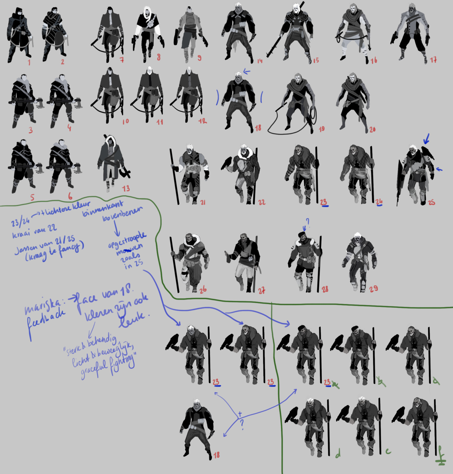 First thumbnails for the design of Bogdan