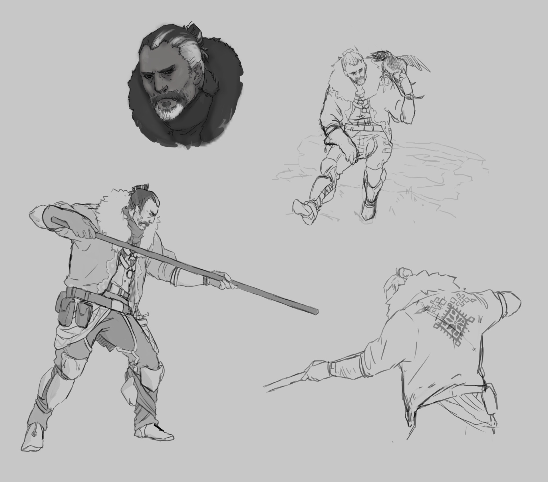 Exploration of Bogdan's early character design