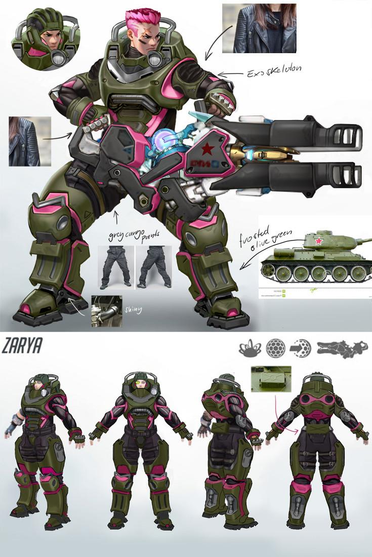 Fan Overwatch Zarya Vintage Tank Concept