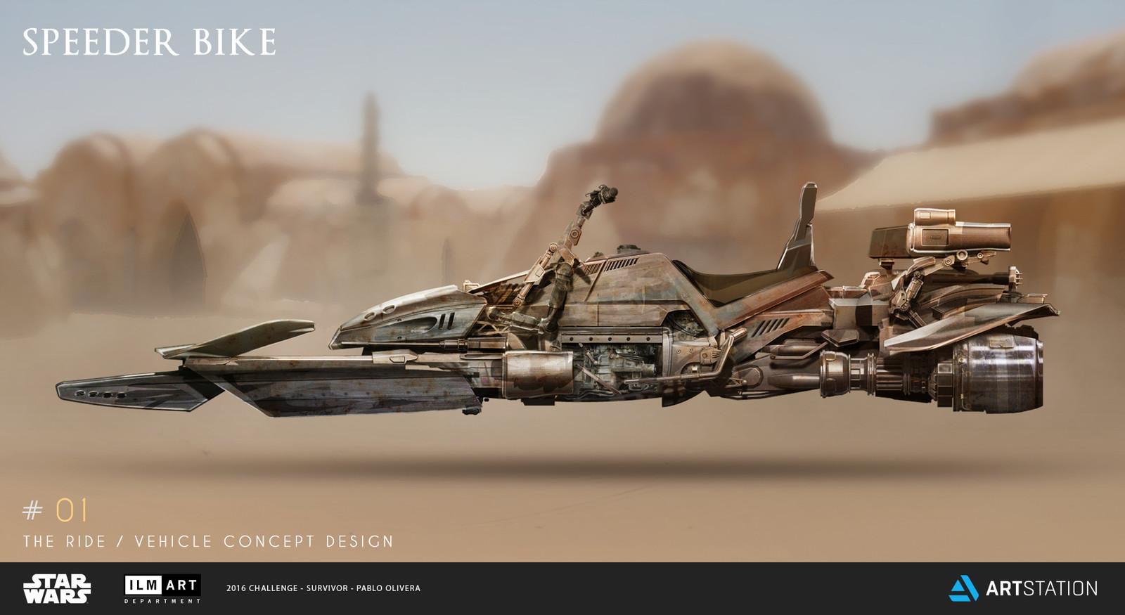 ILM Art Department Challenge - The Ride / Vehicle #1