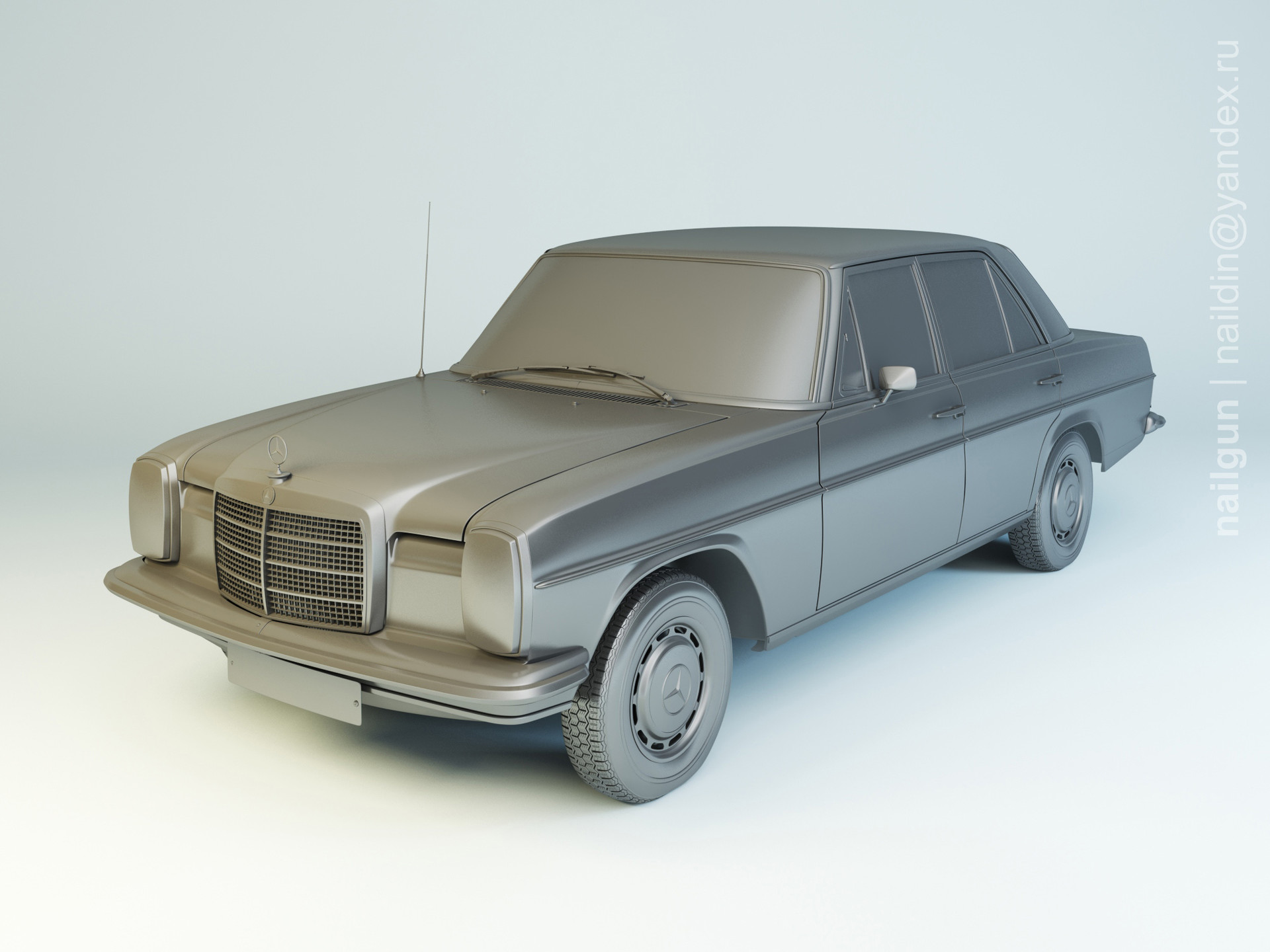 Nail khusnutdinov pwc 070 003 mercedes w114 modelling 0