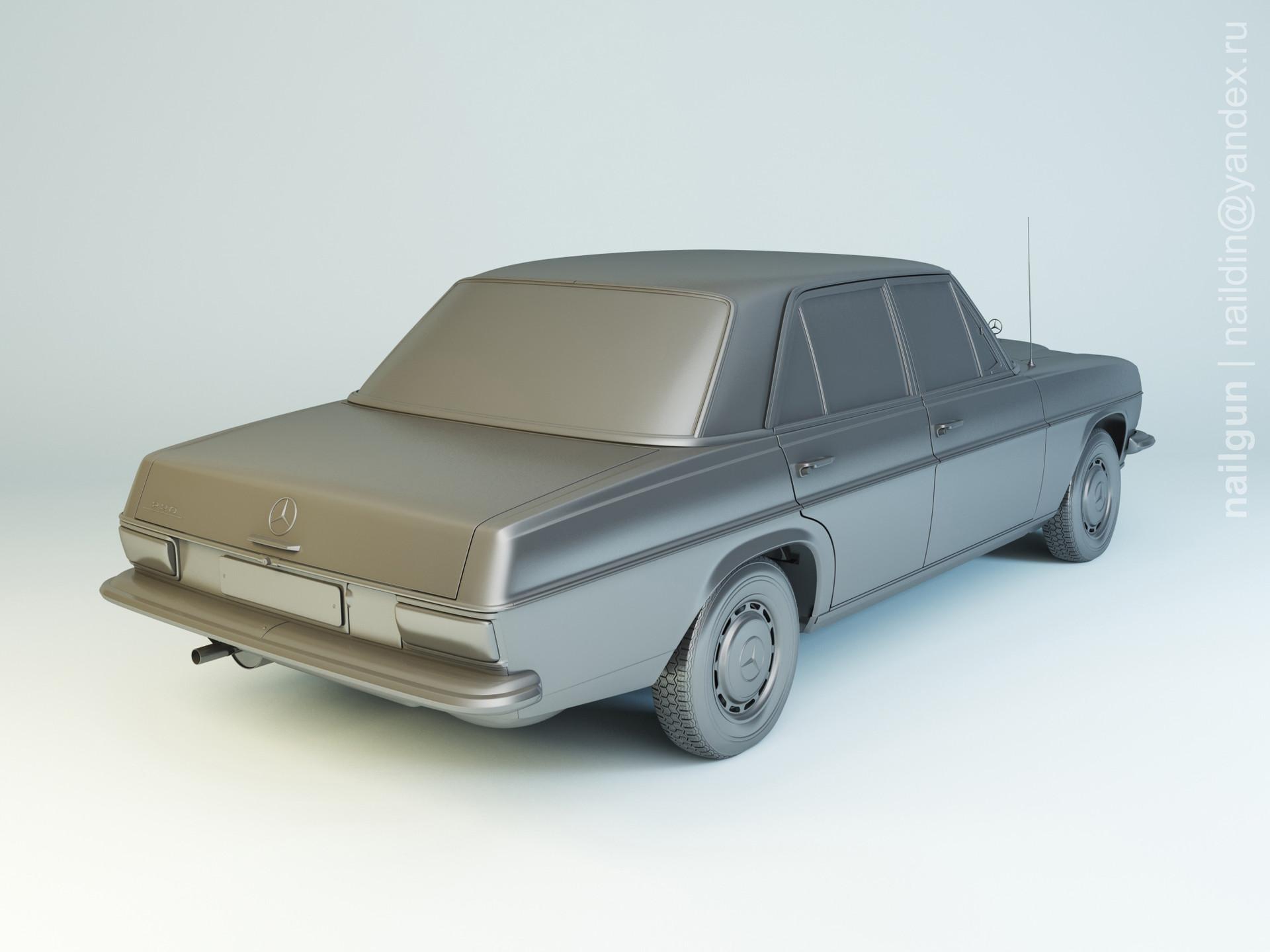 Nail khusnutdinov pwc 070 003 mercedes w114 modelling 1