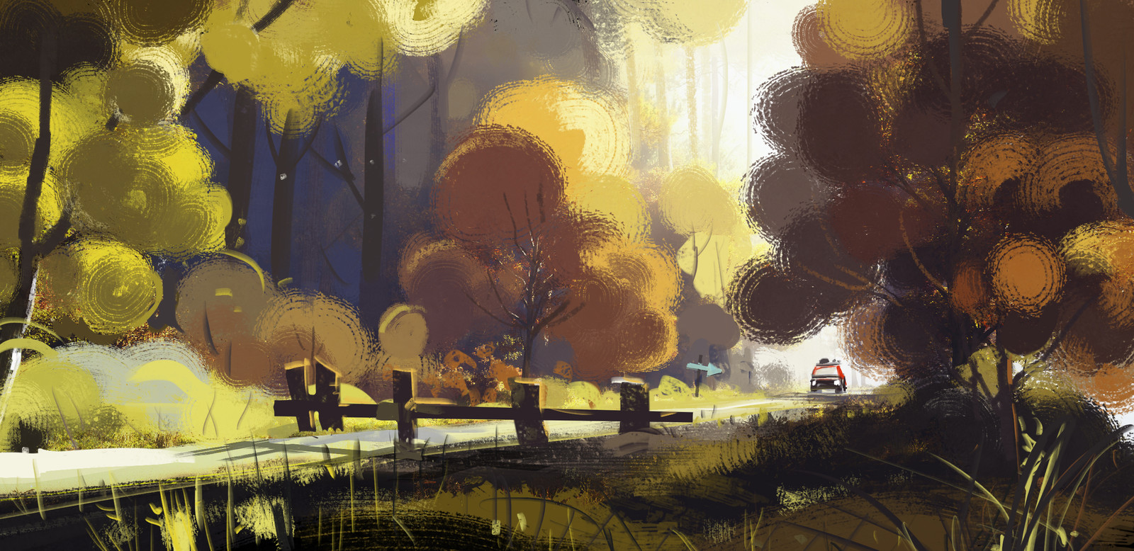 day road block