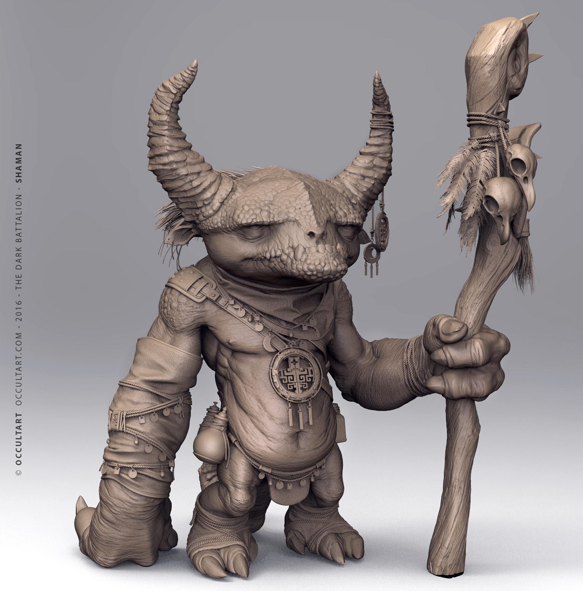 Occultart   shaman clay 1