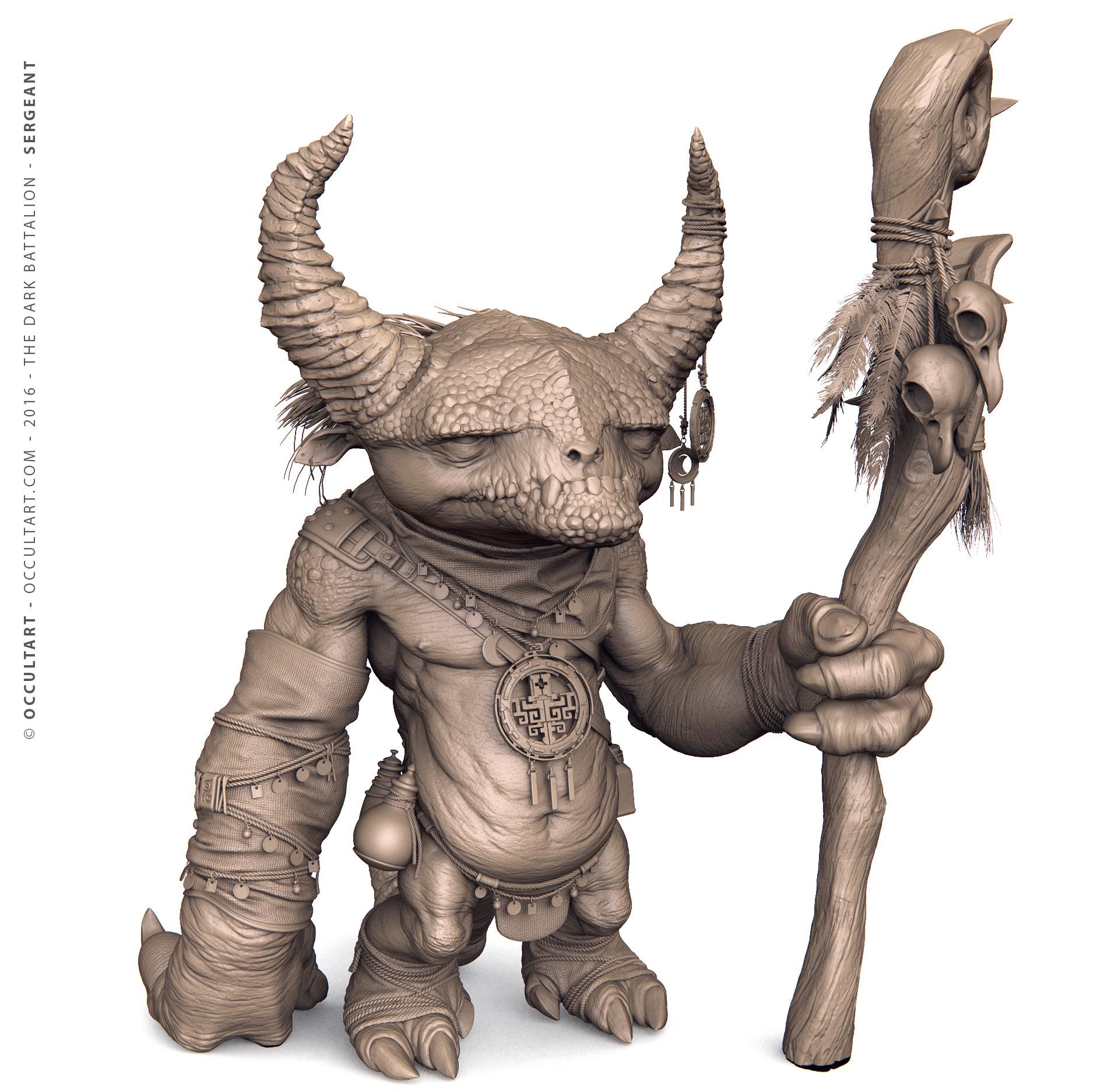 Occultart   shaman zbrush clay