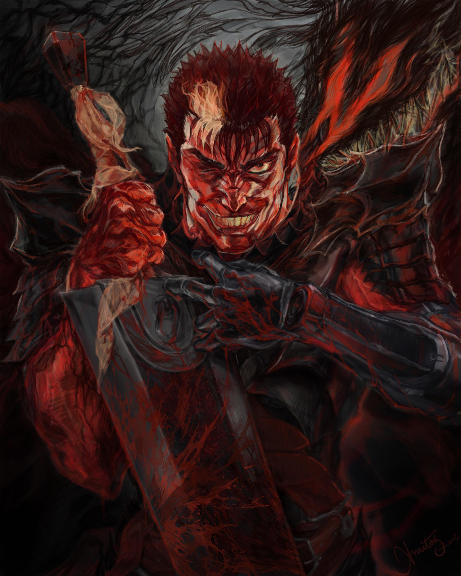 Just found this incredibly badass Guts fanart! : Berserk
