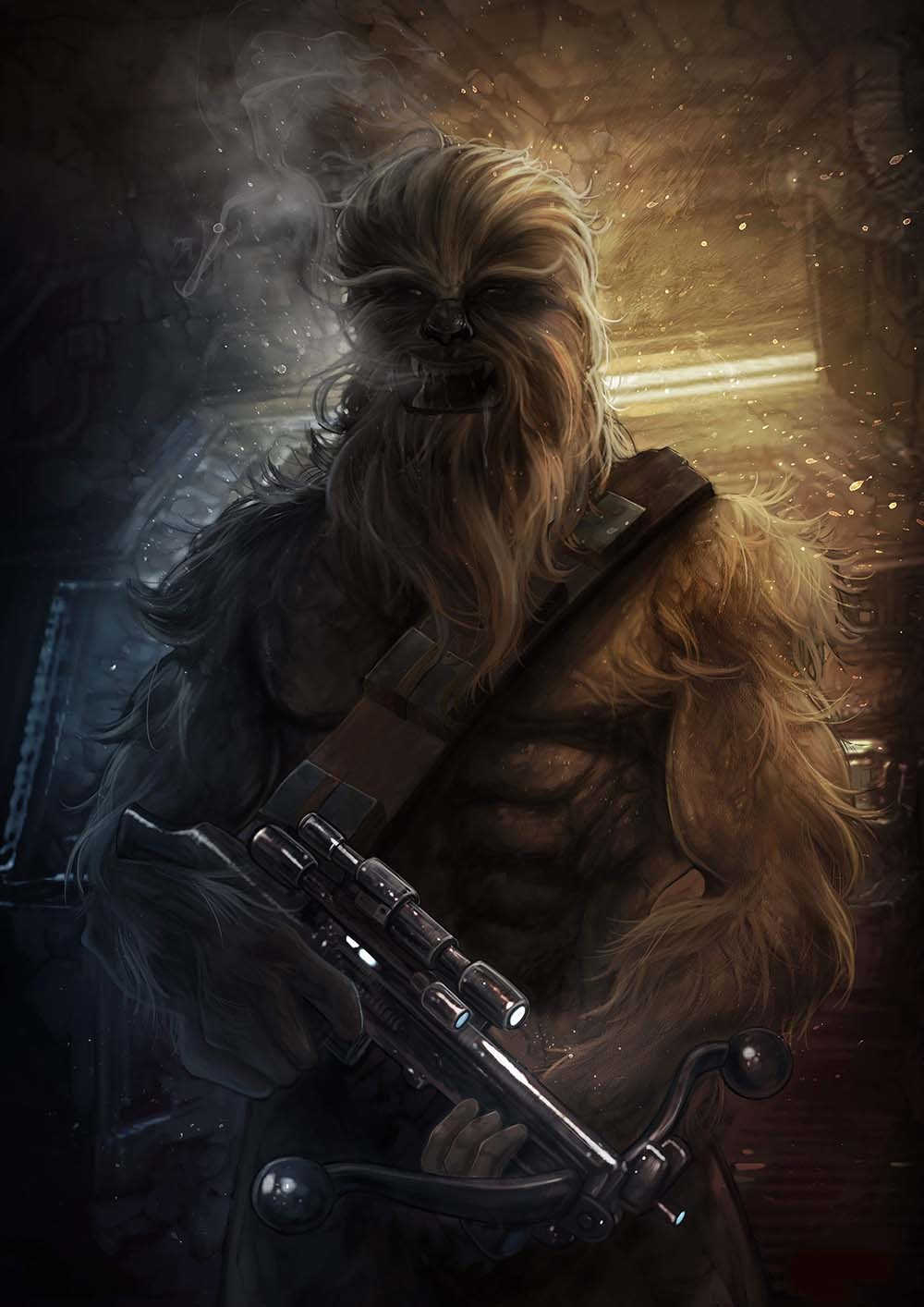Dot line surface art studio chewbacca final