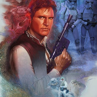 Dot line surface art studio han solo