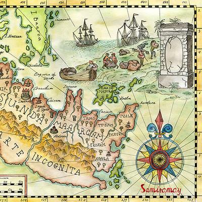 Vera petruk samiramay map with drawing