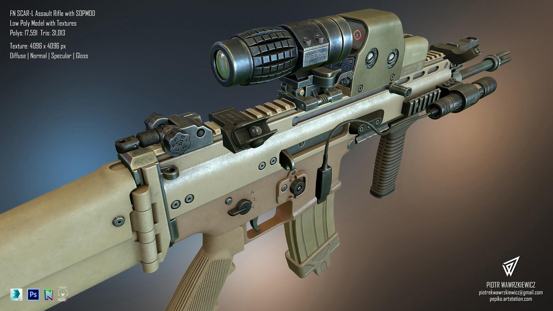 piotr wawrzkiewicz fn scarl assault rifle wirh sopmod