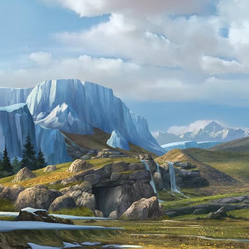 Artstation Ice Age Landscape Alexander Lindner