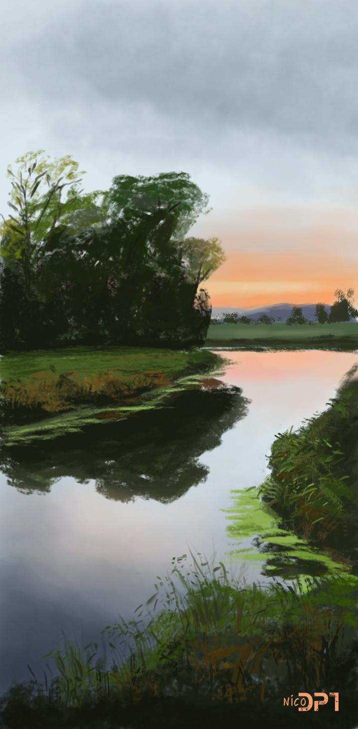 Nico de digital painting tutorial etude daprs peinture nico de digital painting tutorial southern bank little grove renato muccillo baditri Images