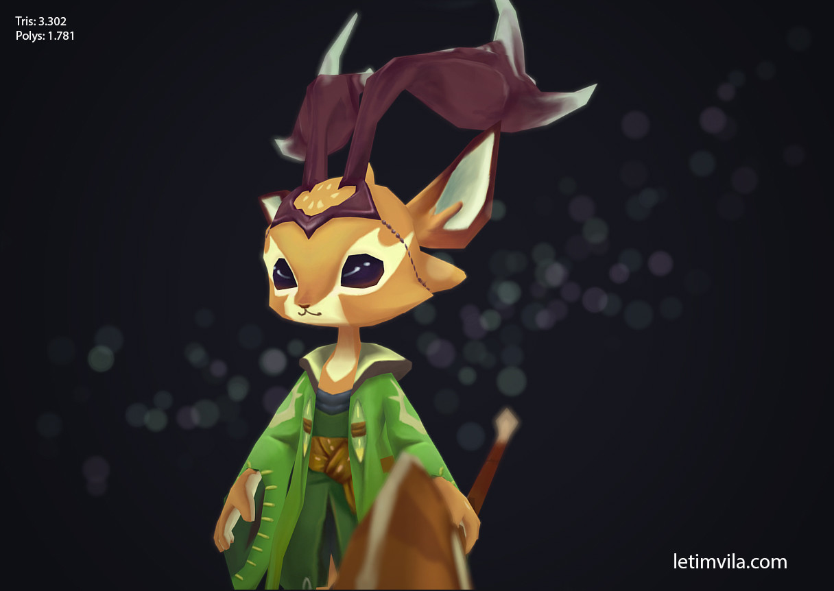 Druid deer close up