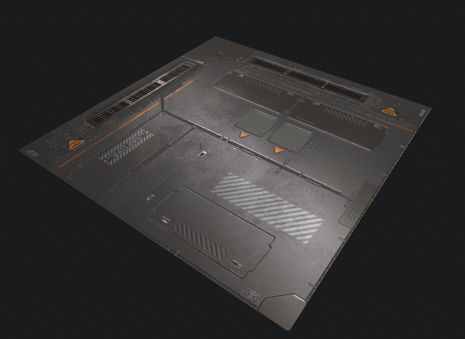 ArtStation - Sci-fi Floor Panel, Kai Li