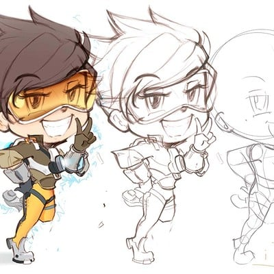 Dot line surface art studio overwatch tracer