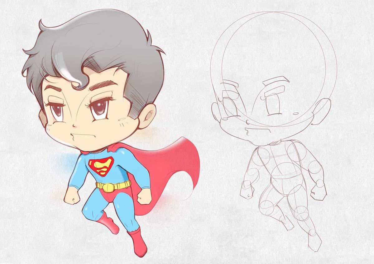 Dot line surface art studio superman
