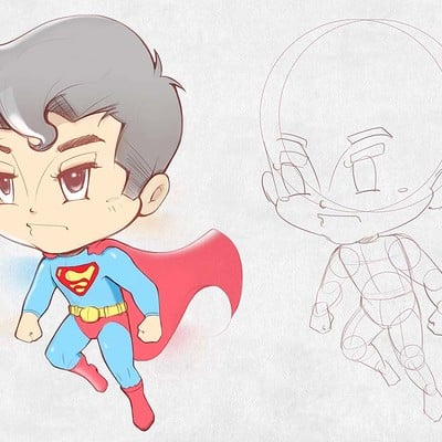 Dot line surface art studio superman