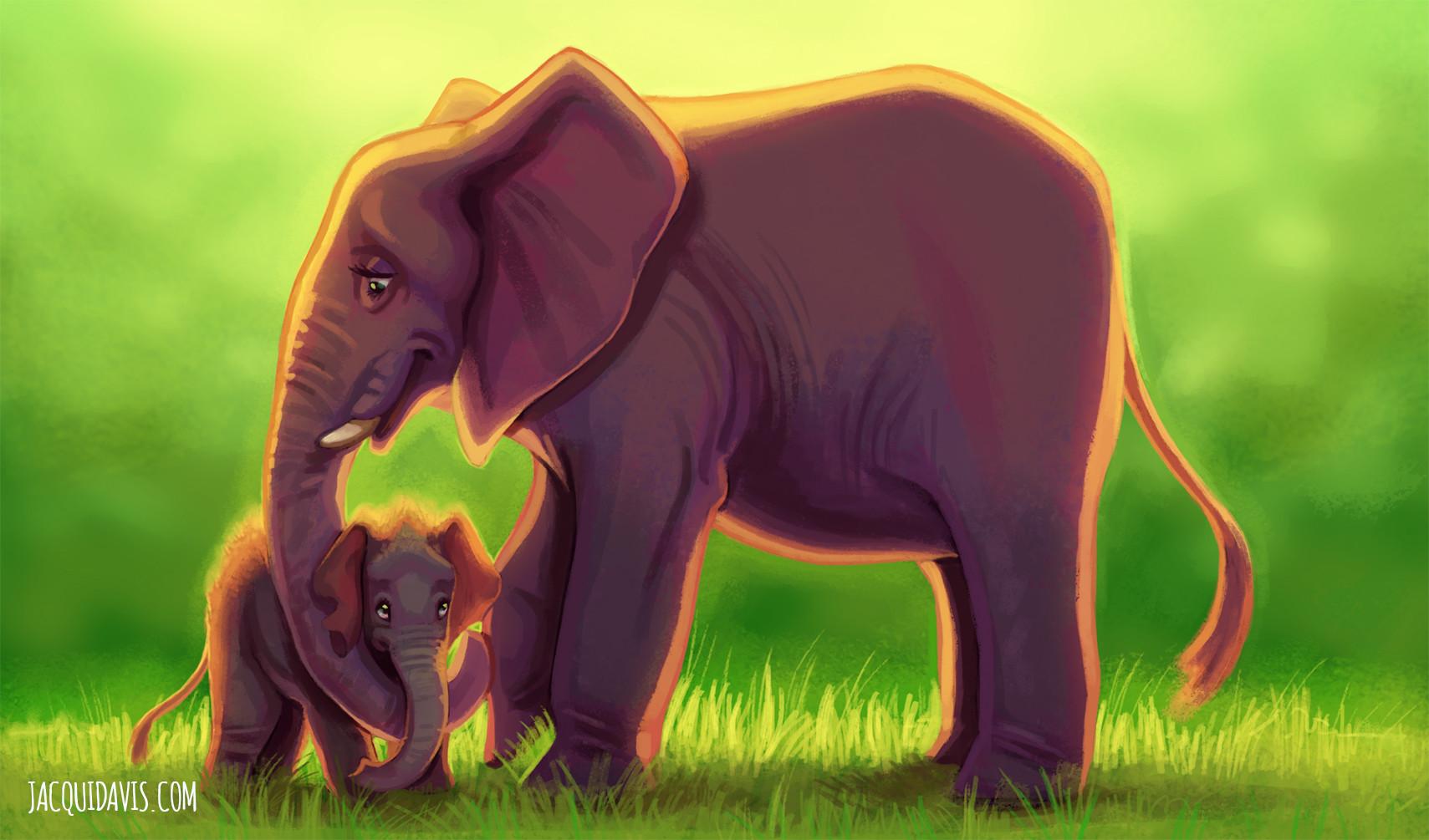 Jacqui davis elephant jungle copy