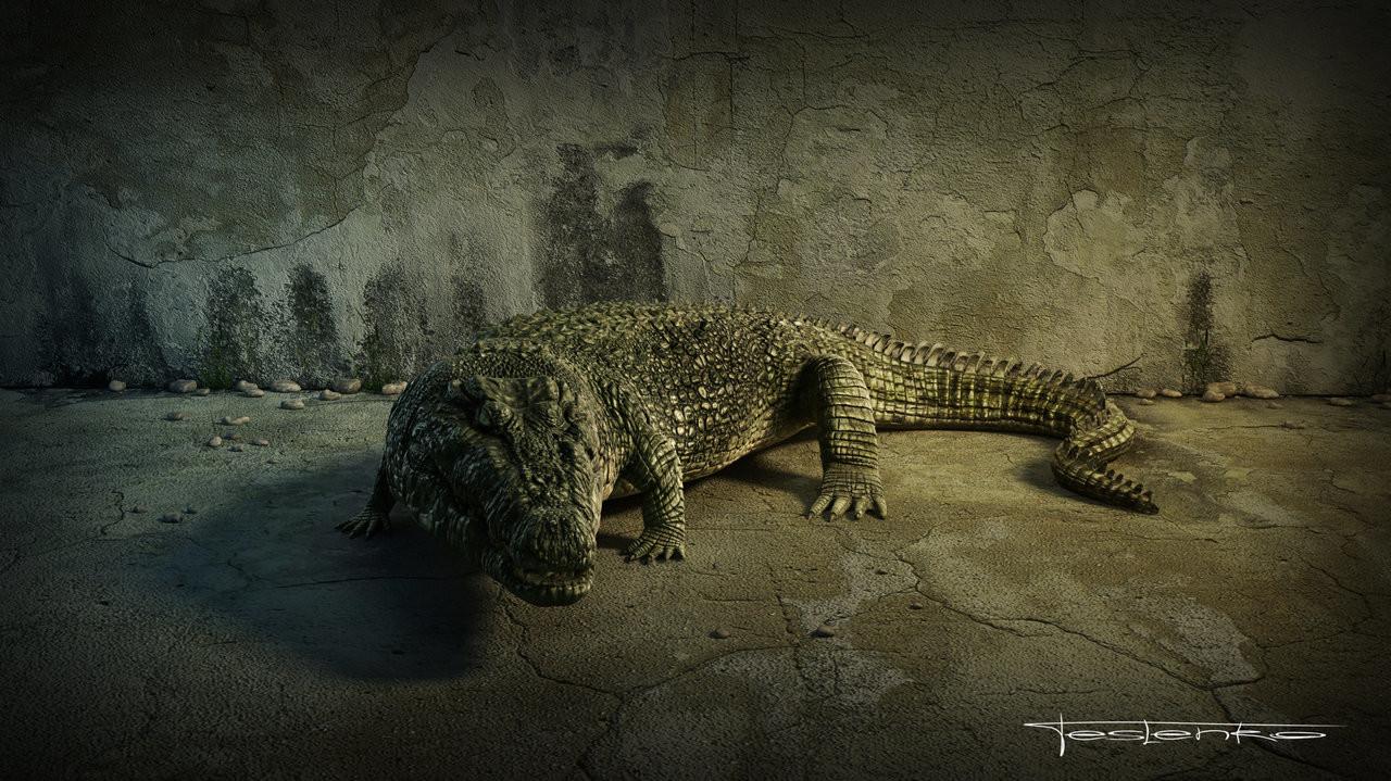 Crocodile Sculpting Tutorial by Dmytro Teslenko - zbrushtuts