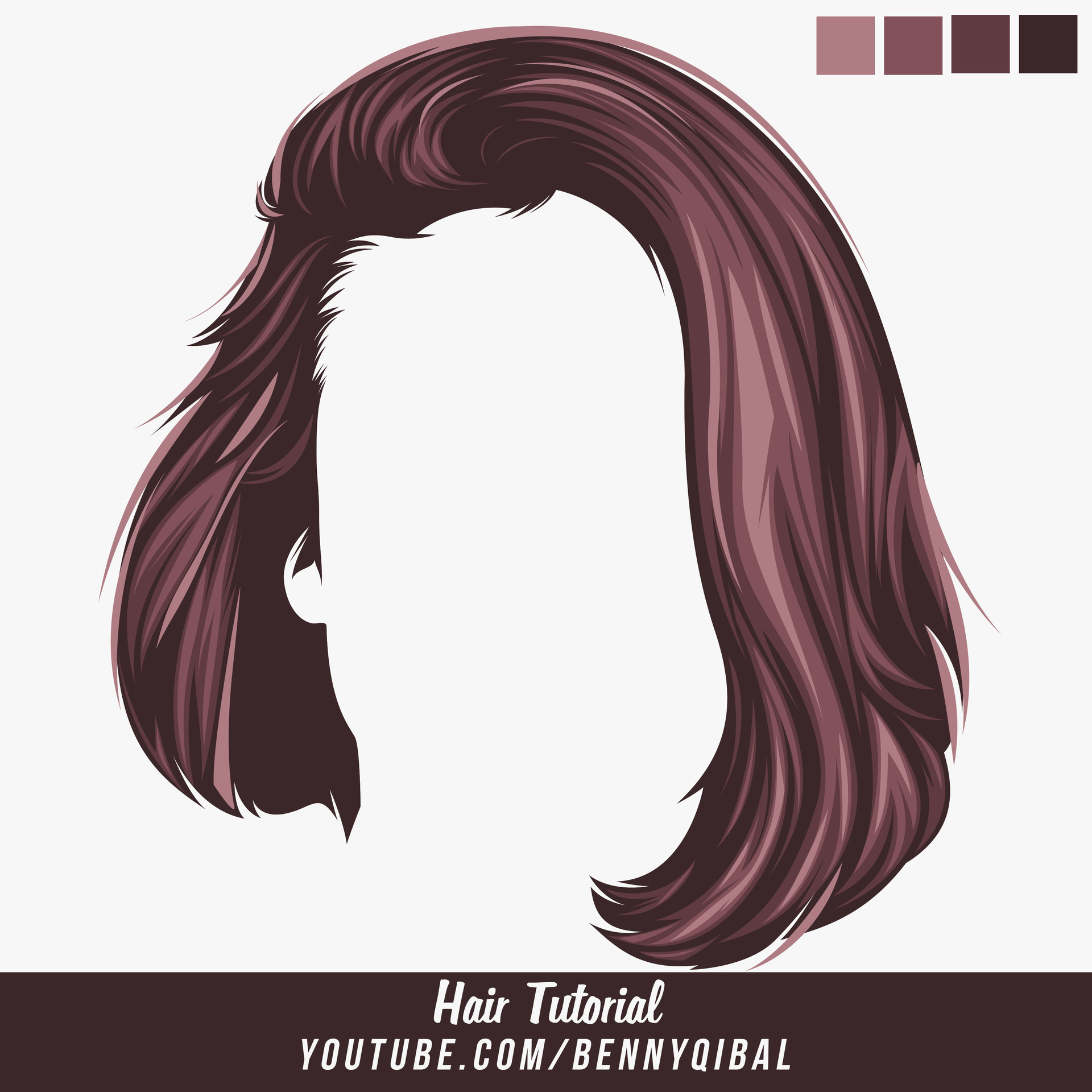 ArtStation - Vector Hair Photoshop Tutorial, Benny Qibal