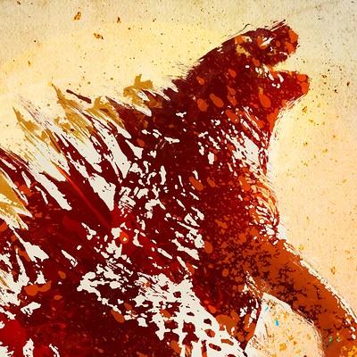 Abraham nethanel jr bramezhu godzilla artwork
