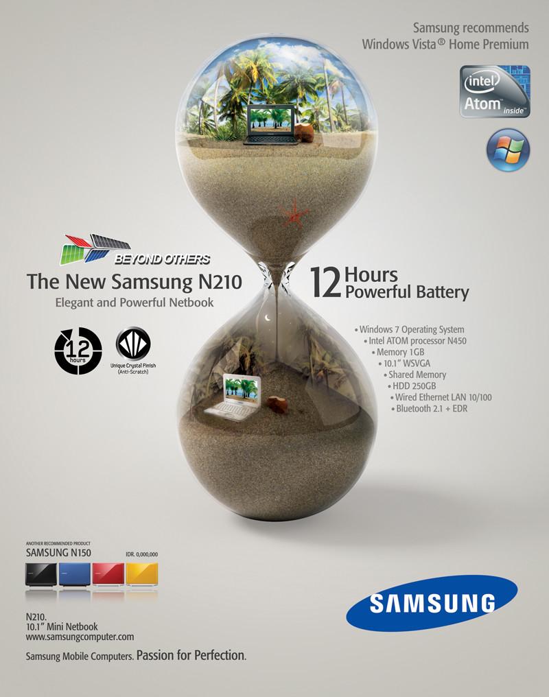 Samsung Netbook N210 Ad #1
