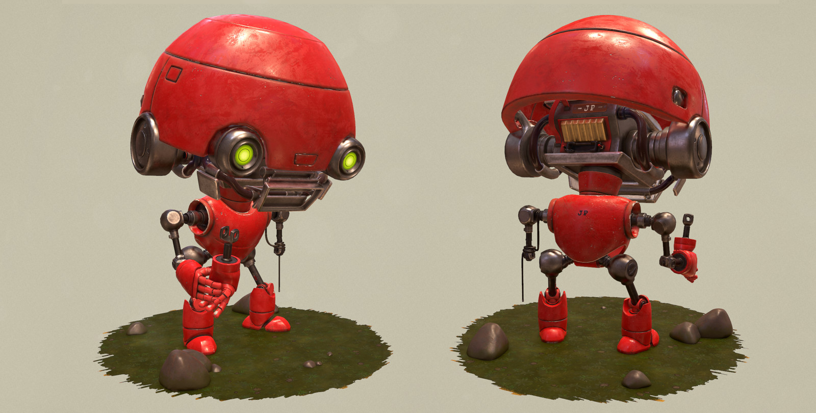 Front and back side of Robot.