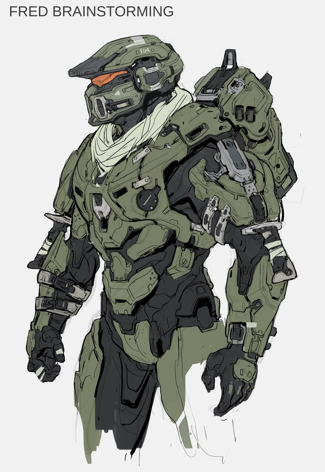 Fred- 104 early concept for Halo 5