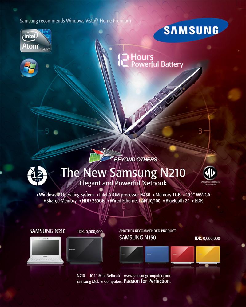 Samsung Netbook N210 Ad #2