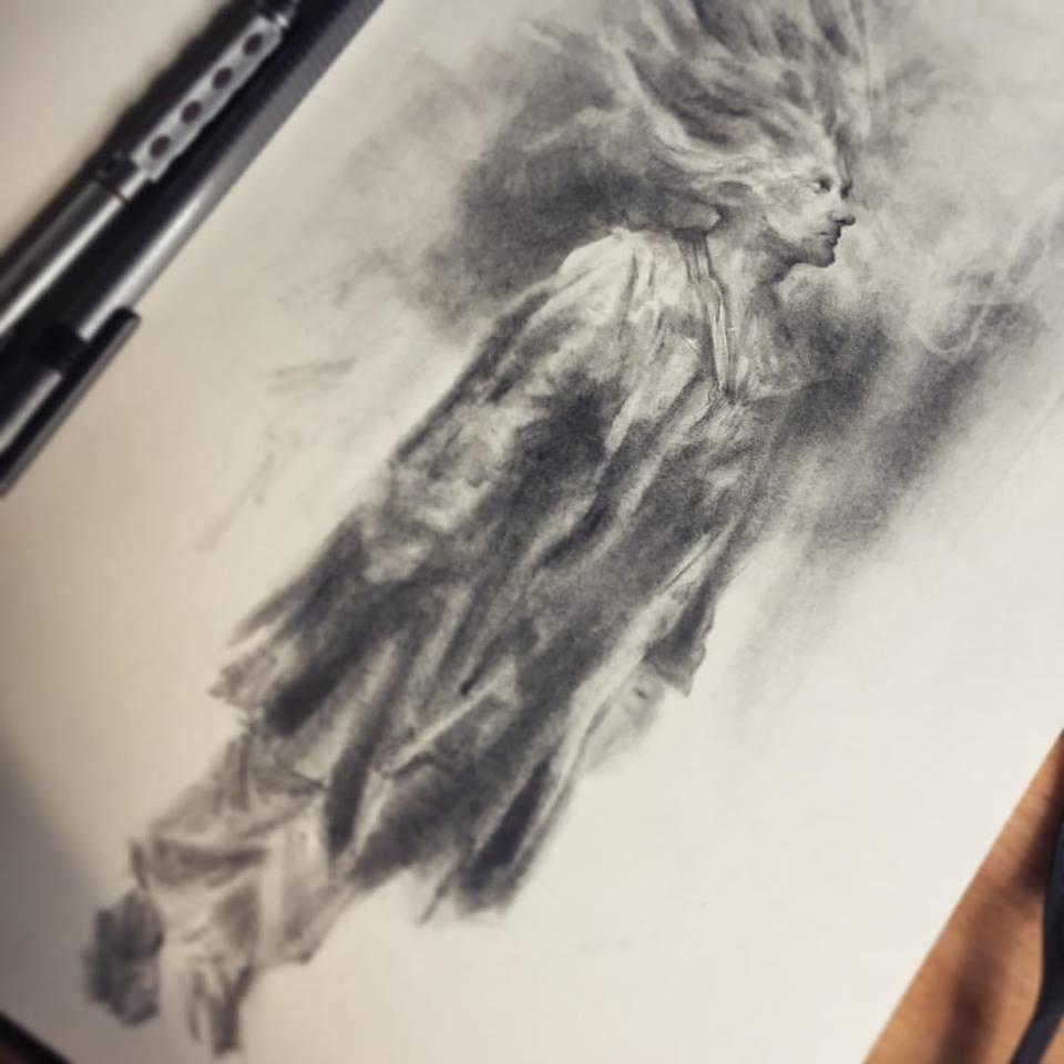 The soldier pencil sketch