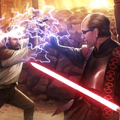 Darren tan darkforcesii jedi knight kyle vs jerec da