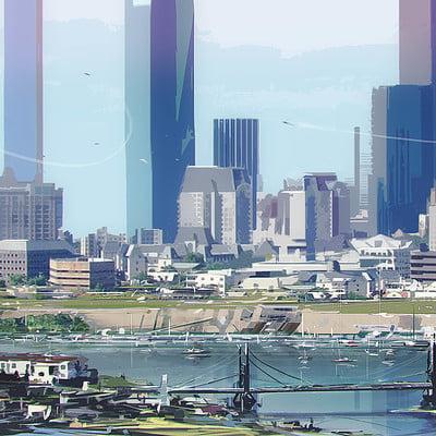 Cityscape stylized