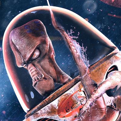 Carlos karurosu garcia alien pose