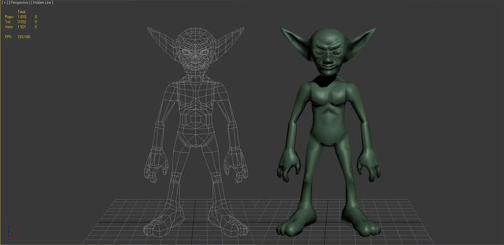 Low poly mesh in 3D Studio Max
