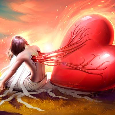 Ayya saparniyazova my great loving heart redraw by ayyasap dah2laf