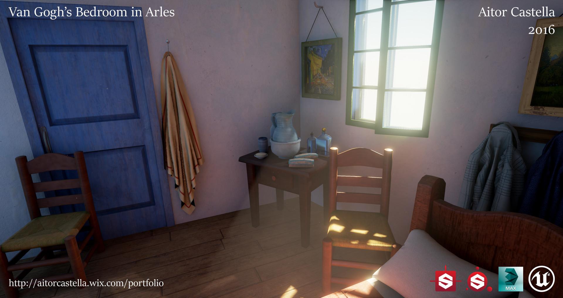 ArtStation - Van Gogh\'s Bedroom in Arles, Aitor Castella