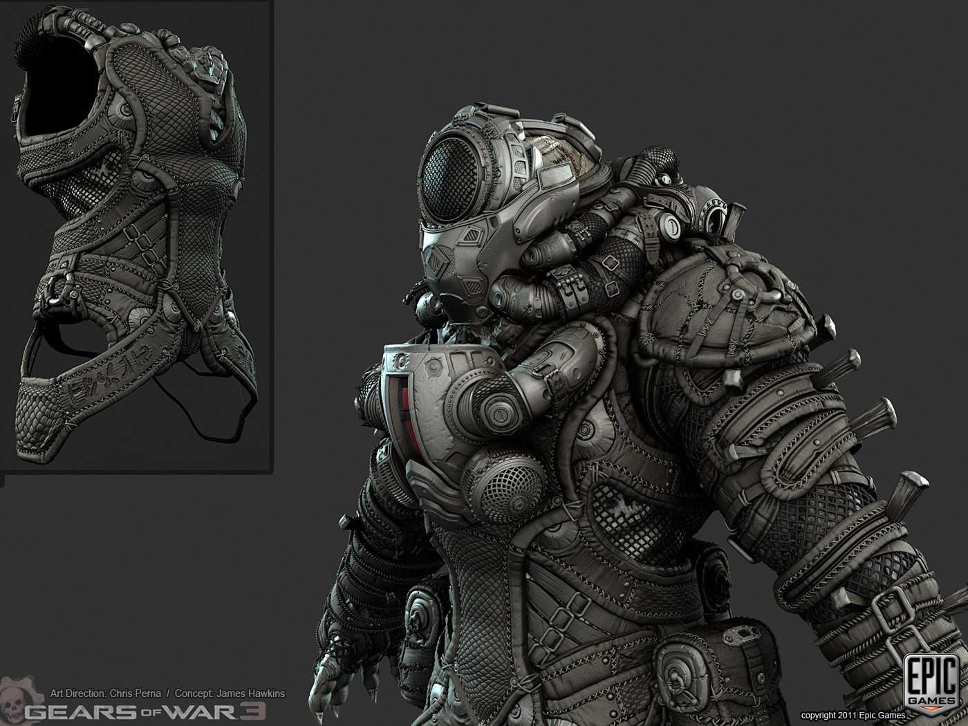 Artstation Gears Of War 3 Savage Locusts Mike Kime