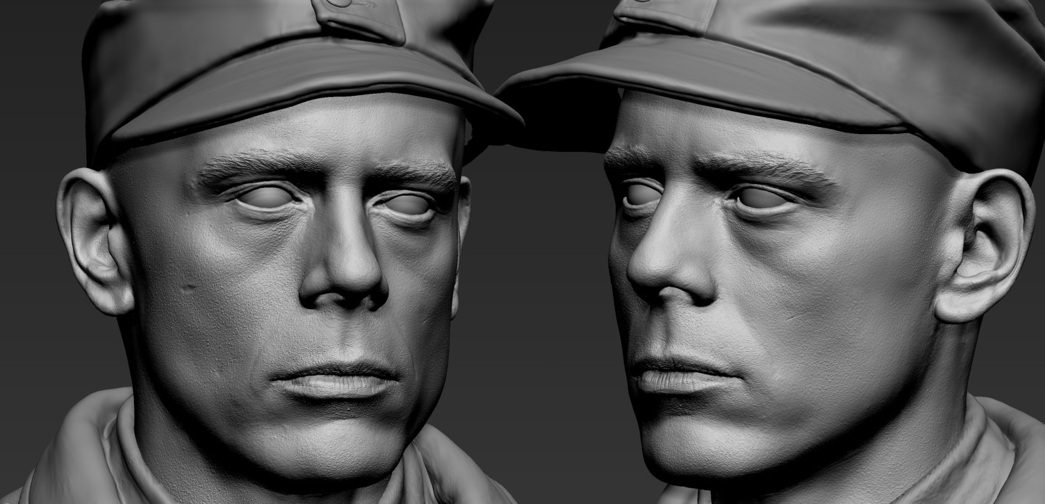 Stirling rank wehrmacht zbrush head