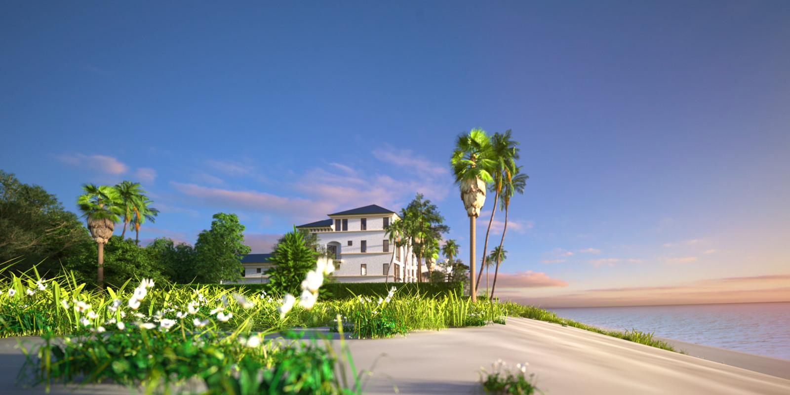 SketchUp + Thea Render  Seagrove Beach House: Scene 33 A Shade 2160 × 1080 Presto MC Bucket