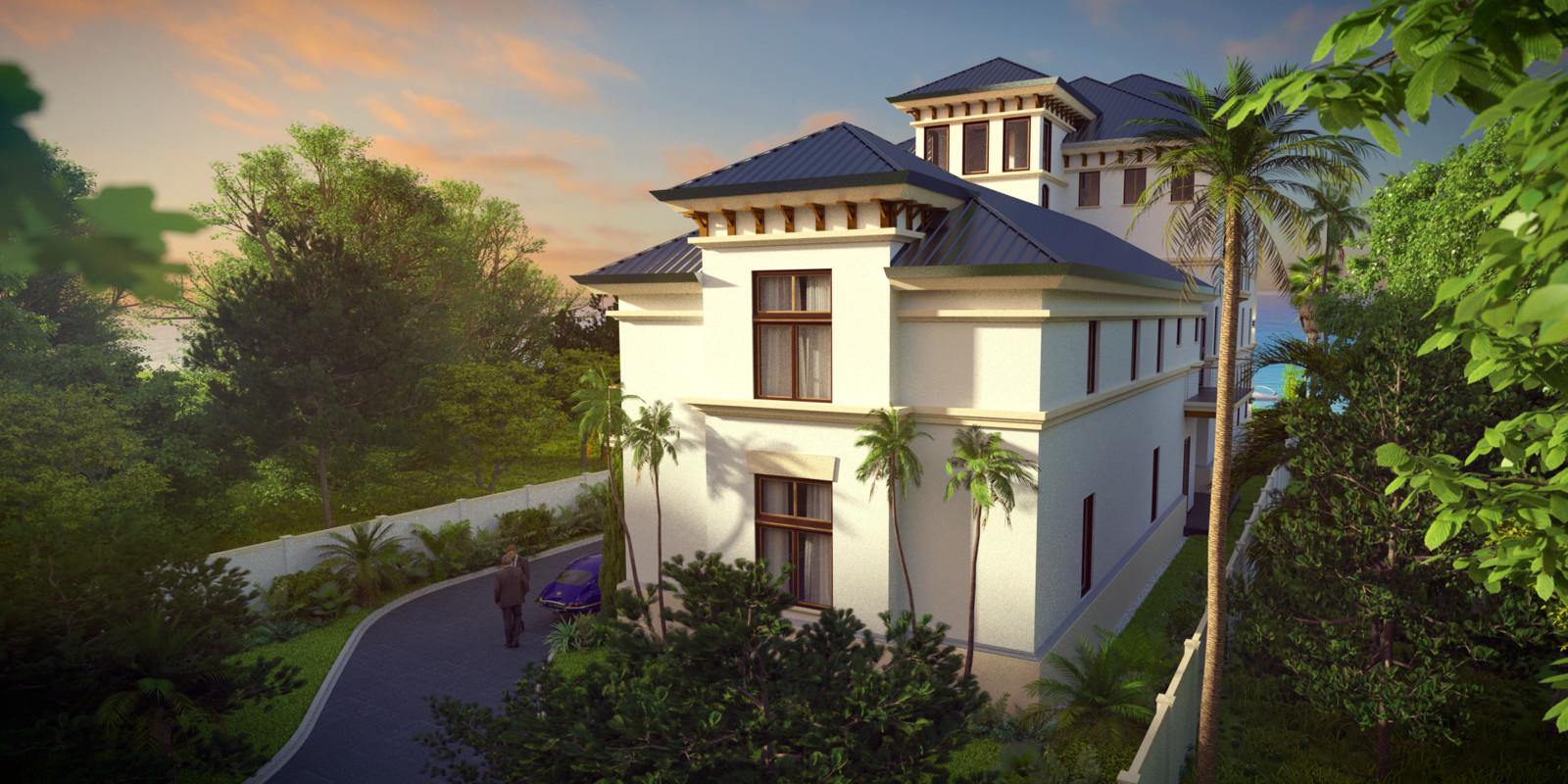 SketchUp + Thea Render  Seagrove Beach House: Scene 65 Studio 02 B Lumina Rise 2160 × 1080 Presto MC Bucket