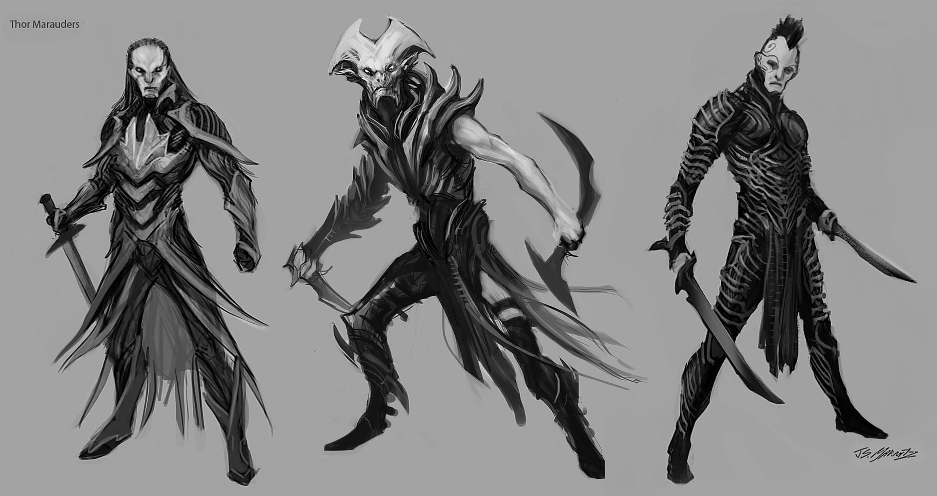 Jerad marantz thor marauders sketches 2