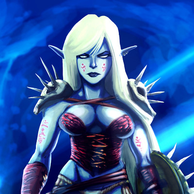 Muppo female drow