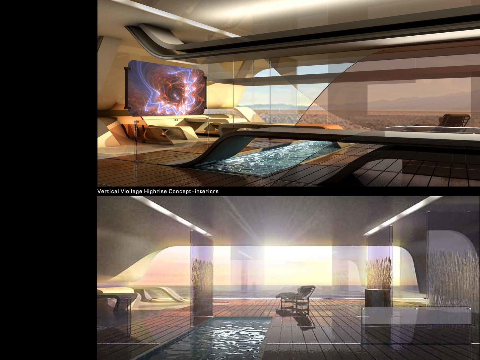 Vertical Village interior designs