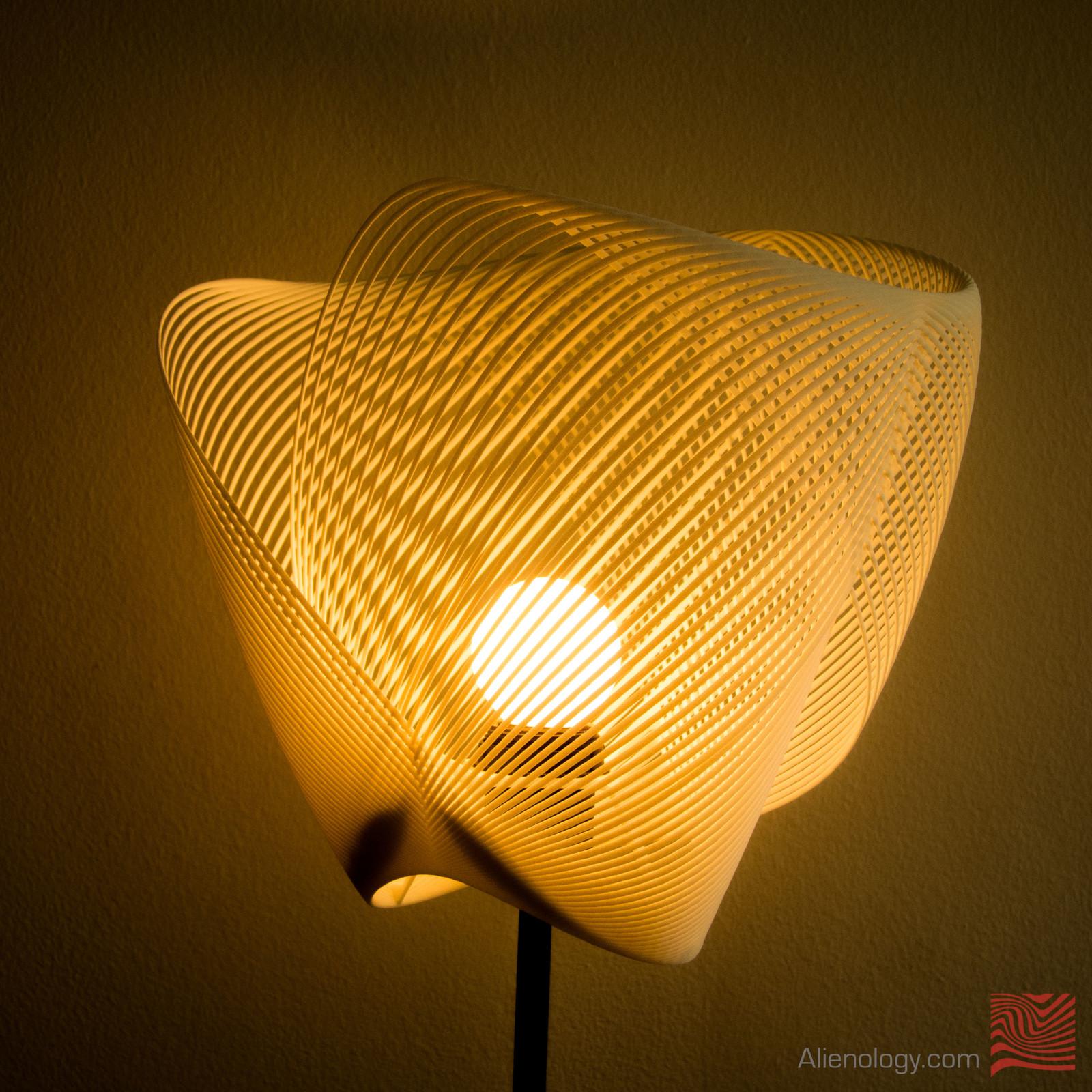 Clothoid 3D printed lamp (SLS nylon)