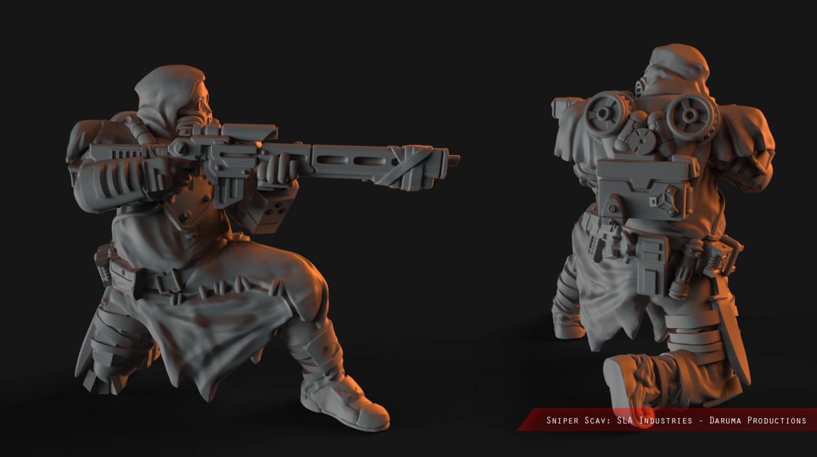 Scavs - Flamer and Sniper (Miniature)