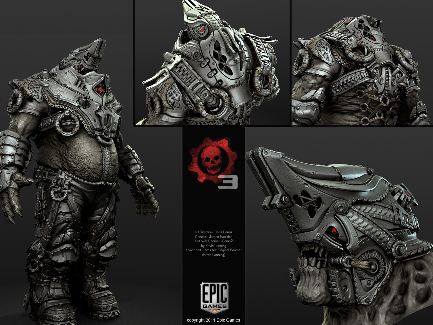 5fa4ea9644 ArtStation - Gears of War 3 - Master Boomer