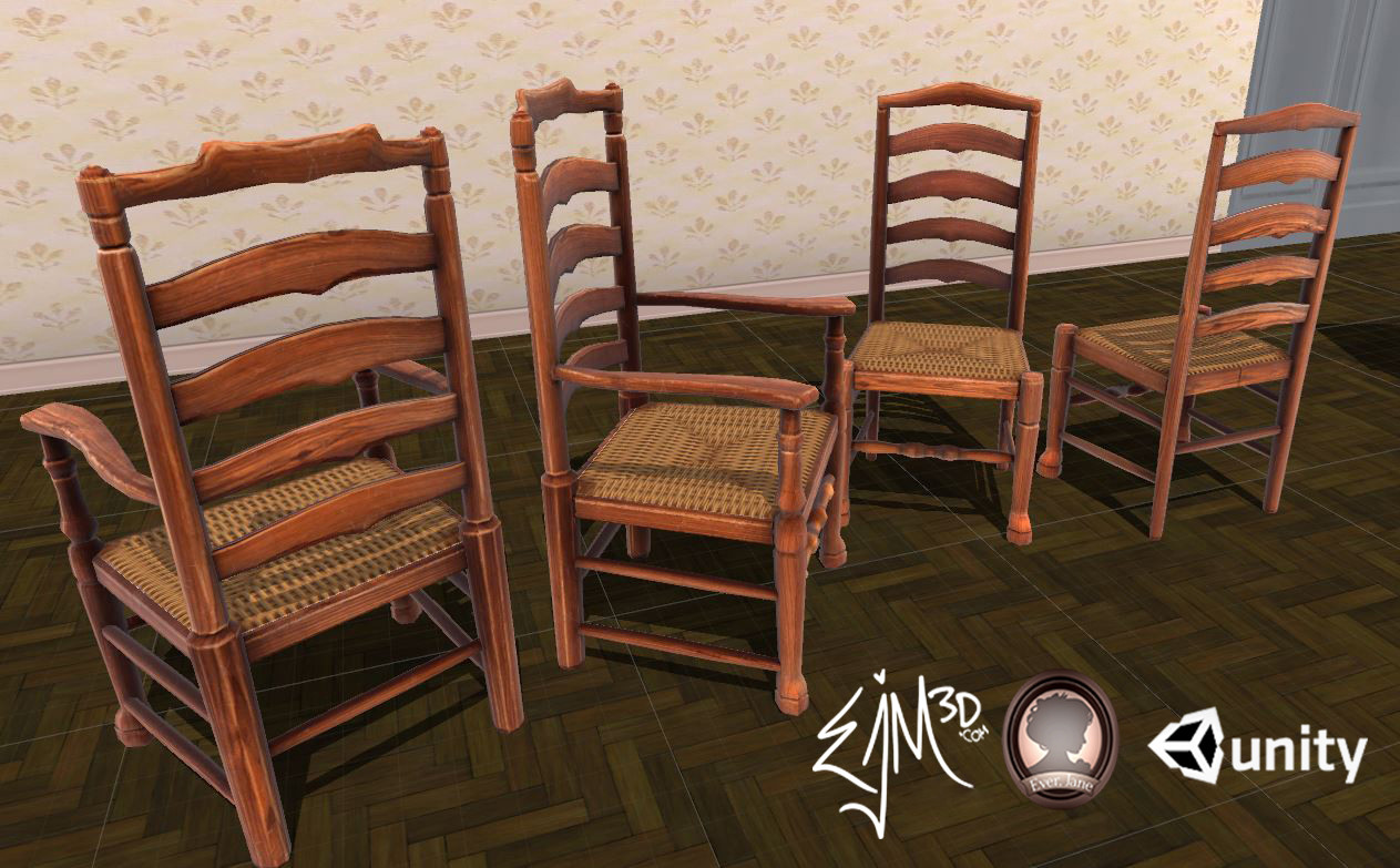 Set of Ladderback Chairs