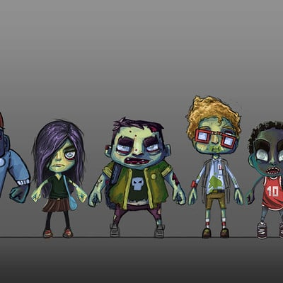 Rob smyth zombie concept line up