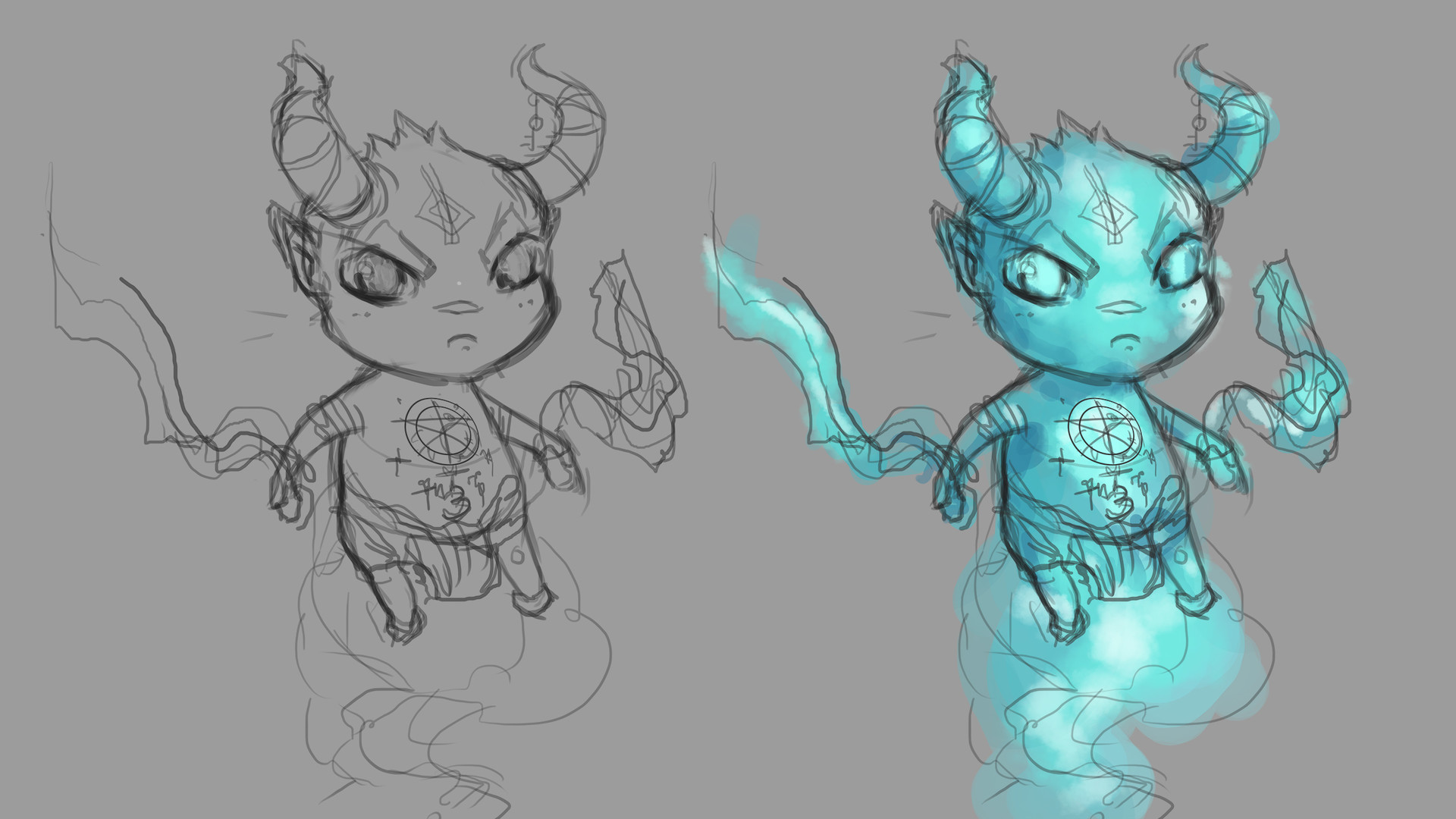 Early Wisp sketches