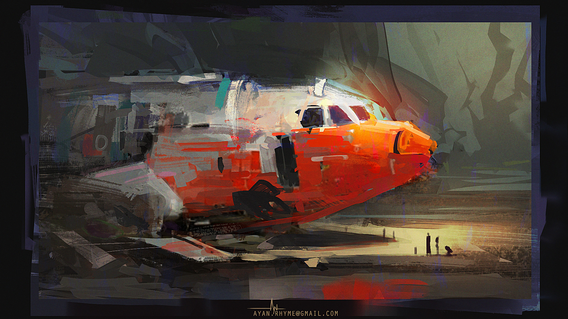 Ayan nag plane wreck by ayan nag